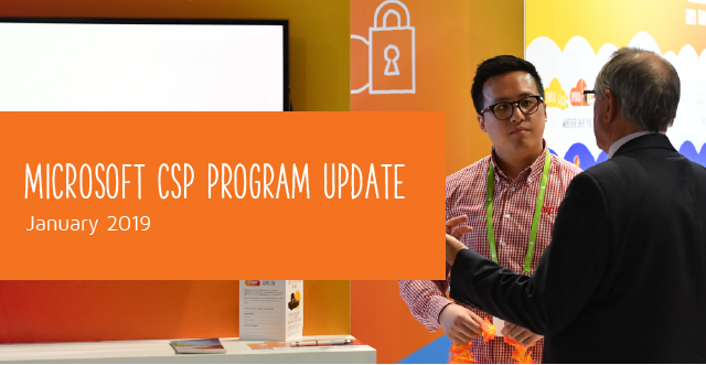 Microsoft CSP Program Update January 2019